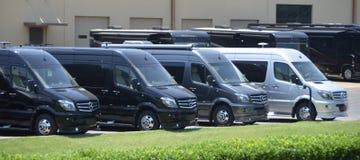 Campeggiatori di Mercedes Sprinter rv fotografie stock