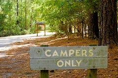 Campeggiatori soltanto fotografia stock