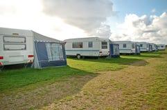 Campeggio dei caravan Fotografia Stock
