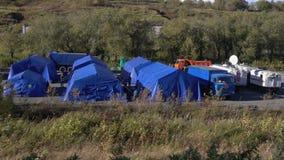 Campeggio del Ministero di protezione civile, delle emergenze e dell'aiuto in caso di catastrofe archivi video