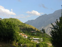 Campeggio della montagna Fotografia Stock Libera da Diritti