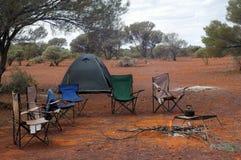 Campeggio della regione selvaggia Immagini Stock Libere da Diritti