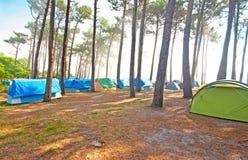 Campeggio della tenda Immagine Stock