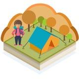 Campeggio di autunno Fotografie Stock