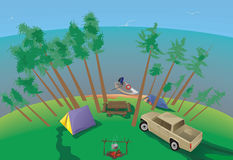 Campeggio di estate Immagini Stock Libere da Diritti