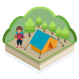 Campeggio di estate Immagini Stock