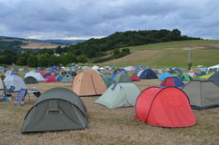 Campeggio di festival Immagini Stock Libere da Diritti
