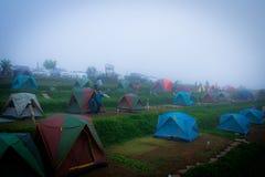 Campeggio di inverno Fotografia Stock