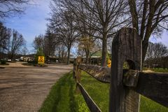 Campeggio di koa di Milton la Virginia dell'Ovest immagini stock libere da diritti