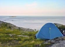 Campeggio di Lofoten Immagine Stock