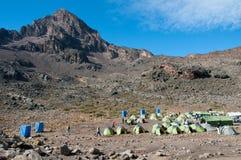 Campeggio di Mawenzi il Tarn, Kilimanjaro Immagine Stock Libera da Diritti