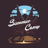 Campeggio estivo della foresta Fotografia Stock