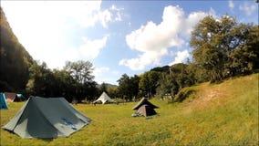 Campeggio estivo Timelapse Fotografia Stock