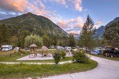 Campeggio nel parco nazionale di Triglav Fotografia Stock Libera da Diritti
