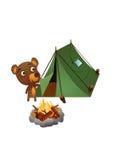 Campeggio selvaggio dell'orso di divertimento Immagine Stock Libera da Diritti