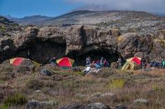 Campeggio su Shira Plateau, Kilimanjaro Immagine Stock
