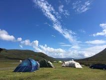 Campeggio sull'isola di Skye fotografie stock libere da diritti
