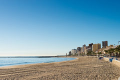 Campello beach Stock Image