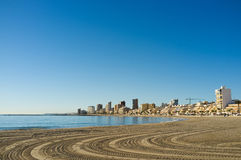 Campello beach in sunny day Stock Photo