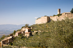 Campello-sul Clitunno, Italien Lizenzfreie Stockbilder