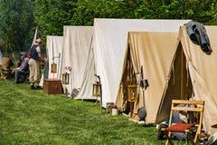 Campement confédéré à la bataille de Buchanan photos stock