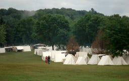 Campement de guerre civile image stock