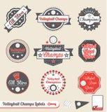 Campeón de la liga del voleibol y todas las escrituras de la etiqueta de la estrella Fotos de archivo
