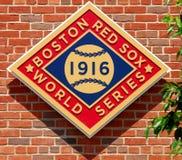 Campeonato 1916 del mundo de Boston Red Sox foto de archivo libre de regalías
