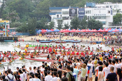 Campeonato 2012 del barco del dragón de Hong-Kong Int'l Foto de archivo libre de regalías