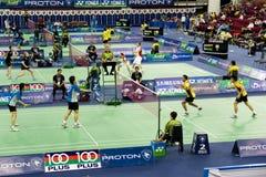Campeonato aberto 2009 do Badminton de Malaysia Imagem de Stock Royalty Free