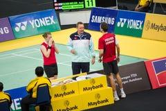 Campeonato aberto 2013 do Badminton de Malaysia Foto de Stock