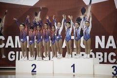Campeonato aeróbio nacional da ginástica imagem de stock royalty free