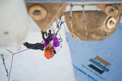 Campeonato Busteni 2010 de la taza de mundo del hielo que sube Fotos de archivo libres de regalías