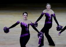 Campeonato Cheerleading de Finlandia 2010, Foto de Stock Royalty Free