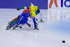 Campeonato corto europeo del patinaje de velocidad de la pista Fotos de archivo