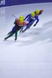 Campeonato corto europeo del patinaje de velocidad de la pista Foto de archivo libre de regalías