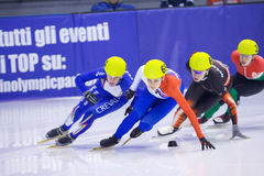 Campeonato corto europeo del patinaje de velocidad de la pista Fotos de archivo libres de regalías