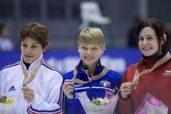Campeonato corto europeo del patinaje de velocidad de la pista Imagen de archivo libre de regalías