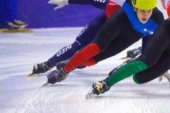 Campeonato corto europeo del patinaje de velocidad de la pista Fotografía de archivo