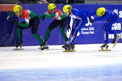 Campeonato corto europeo del patinaje de velocidad de la pista Imagen de archivo