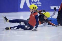 Campeonato corto europeo del patinaje de velocidad de la pista Fotografía de archivo libre de regalías