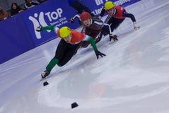 Campeonato corto europeo del patinaje de velocidad de la pista Foto de archivo