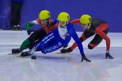 Campeonato corto europeo del patinaje de velocidad de la pista Imagenes de archivo