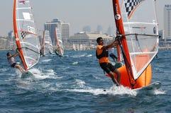 Campeonato da juventude de Israel do iate Foto de Stock Royalty Free