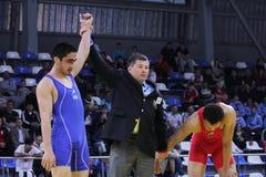 Campeonato da luta romana do cadete de 2014 europeus Foto de Stock