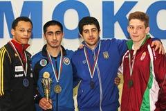 Campeonato da luta romana do cadete de 2014 europeus Fotos de Stock Royalty Free