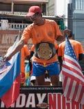 Campeonato da mostra da rua no encaixotamento tailandês foto de stock royalty free