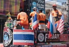 Campeonato da mostra da rua no encaixotamento tailandês foto de stock