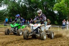 Campeonato da região de Zakarpatie no motocross em Uzhhorod Foto de Stock
