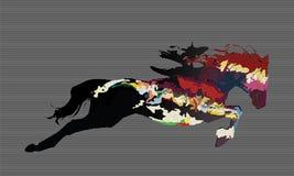 Campeonato de carrera de caballos del mundo ilustración del vector